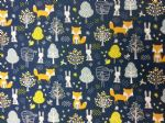 RABBIT AND THE FOX BLUE - material - Fabric - Price Per Metre